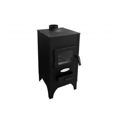 Száraz tüzelőanyaggal üzemelő fűtőkályha , 38x40x79 cm, fekete - LENORA SEE7