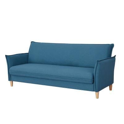 3 személyes ágyazható kanapé, ágyneműtartóval, olajkék - COMETE