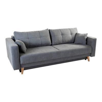 2 személyes kinyitható kanapé, szürke - CHAMADE