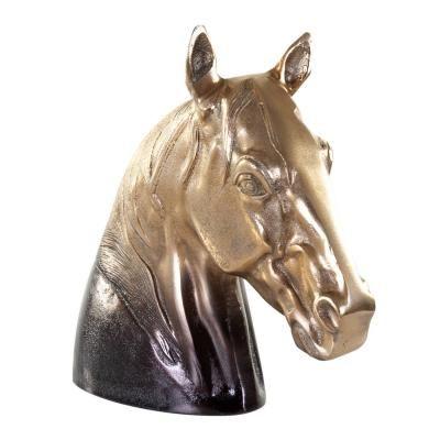 Réz asztali dekoráció, lófej alak, arany - MISTRAL GAGNANT