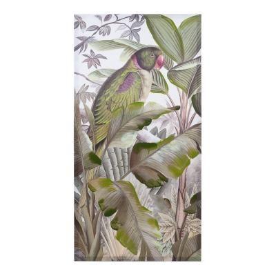 Vászon kép, 60x3x120 cm, középen papagájjal - MOUSSON