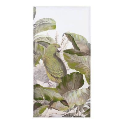 Vászon kép, 60x3x120 cm, oldalt papagájjal - MOUSSON