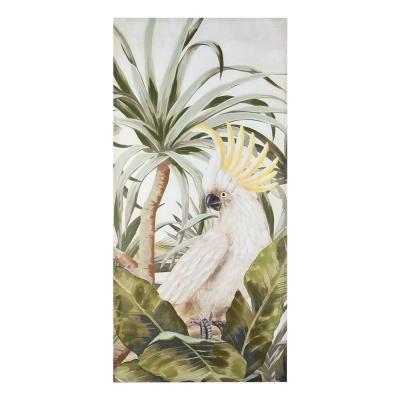 Vászon kép 90x3x190 cm, kakadu sárga bóbitával - KAKADU