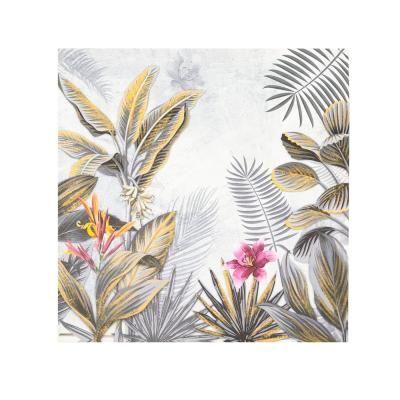 Vászon kép, 40x40 cm, egy rózsaszín virággal - AECHMEA 1