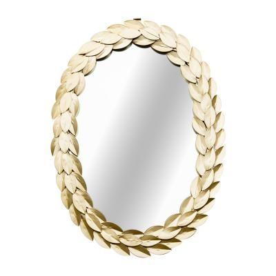 Ovális tükör, babérlevél kerettel, 34x49 cm, arany - AVE