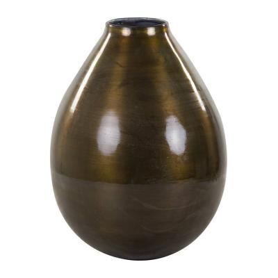 Alumínium váza, ovális, óarany - GONG