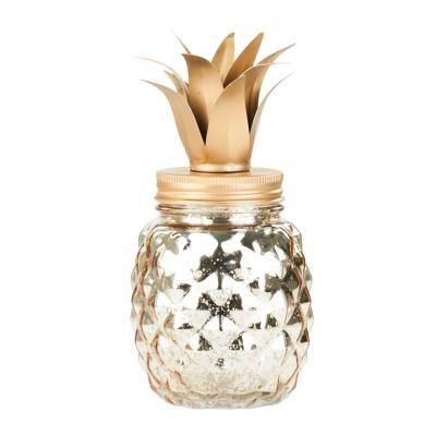 LED-es ananász formájú üveg, arany - ANANSMANIA