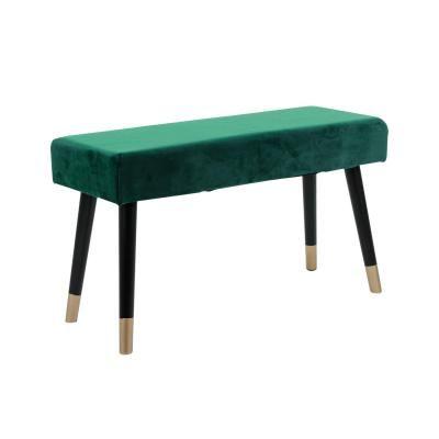 Modern bársony pad, pávazöld - PAON