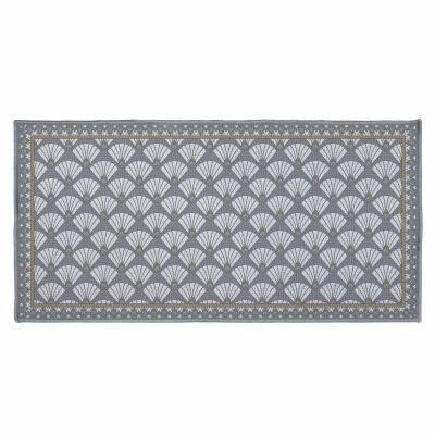 Art déco mintás szőnyeg, 57x115 cm, szürkésbarna - MADRID