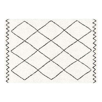 Rombusz mintás szőnyeg, 120x170 cm, törtfehér - TRIANGULARE