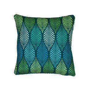 Díszpárna, kék és zöld mintás - ART NOUVEAU