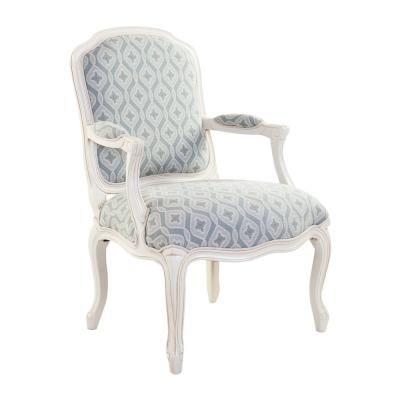 Vintage stílusú fotel, virág mintás, menta - SMOKEY