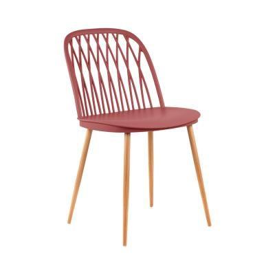Modern műanyag szék, korall - CIGALE