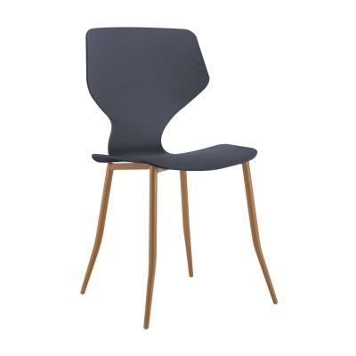 Modern műanyag szék, antracit - FOURMI