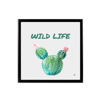 Keretezett falikép 40x40 cm, kaktusz virággal - WILD LIFE