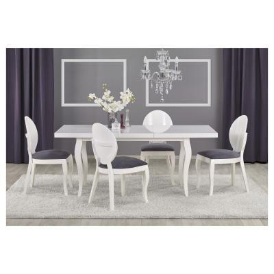 Klasszikus stílusú étkezőasztal, fehér - ROMANCE