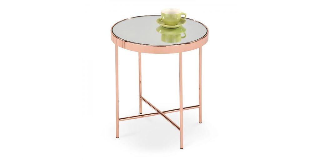 Modern dohányzóasztal, réz színű - GLAMOUR