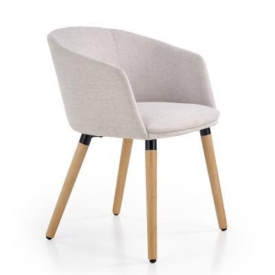 Modern fotel fa lábakkal, bézs - ERIK
