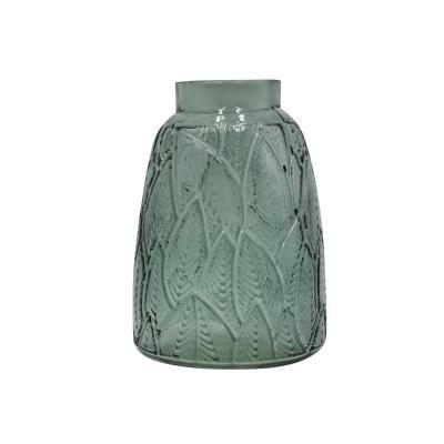 Leveles üveg váza, sötétzöld 11,5 cm - BOTANIC