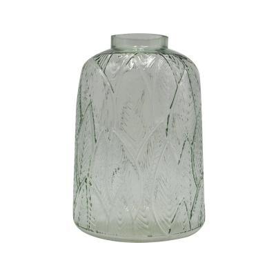 Leveles üveg váza, világoszöld 14,5 cm - BOTANIC