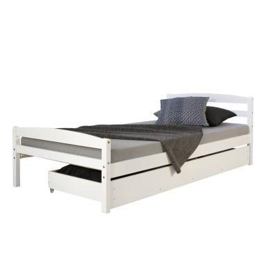 Ágykeret tárolórésszel 90x200 cm, fehér - DRYADES