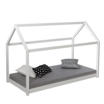 Házikó ágykeret 90x200 cm, fehér - OZ
