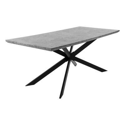 Beton hatású étkezőasztal, 180x90 cm - URBAIN CHIC