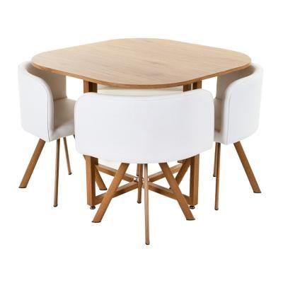 Étkezőasztal, 100x100 cm 4 székkel - PTIT DEJ