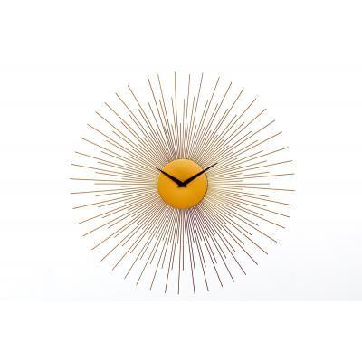 Nap formájú falióra, 50 cm, arany - HELIOS