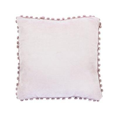 Párna pomponos, pasztell lila - CALIN