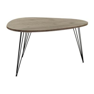 Asztalka hajlított lábakkal, barna - MIA