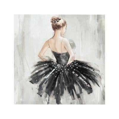 Falikép, 48x48 cm, szőke hajú balerina - BALLERINE