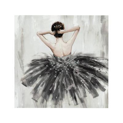 Falikép, 48x48 cm barna hajú balerina - BALLERINE
