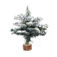 Asztali karácsonyfa, műhóval, 28 cm, fenyőzöld - SAPIN POUDRE