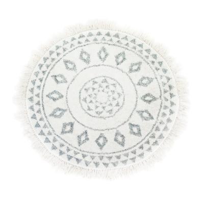 Kerek szőnyeg, szürke-fehér, 120 cm - VALET DE TREFLE