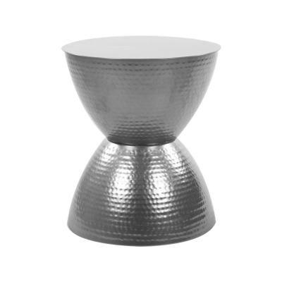 Homokóra formájú asztalka, ezüst - TAM TAM