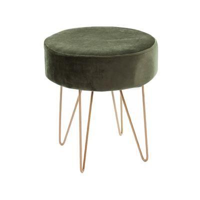 Ülőke fém lábakkal, khaki zöld - PAGE