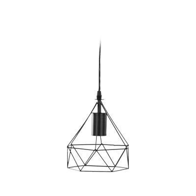 Origami mennyezeti lámpa, fekete - DIAMANT