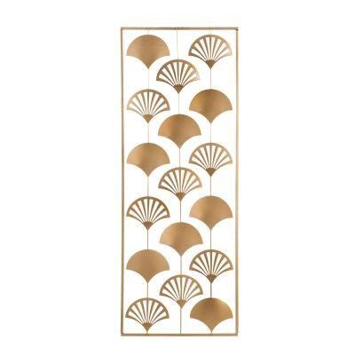 Fém fali dekoráció, leveles - ART DECO