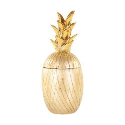 Ananász formájú tároló, arany - ANANASMANIA