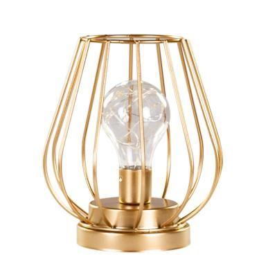 Lámpa mikroleddel, arany színű - LOTUS