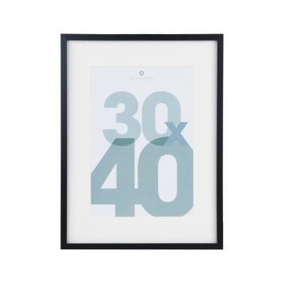 Fali képkeret, 30x40 cm, fekete  - CADRE