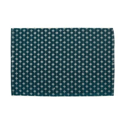 Modern hópihe mintás szőnyeg, 90x60 cm, sötétkék - CARREAUX
