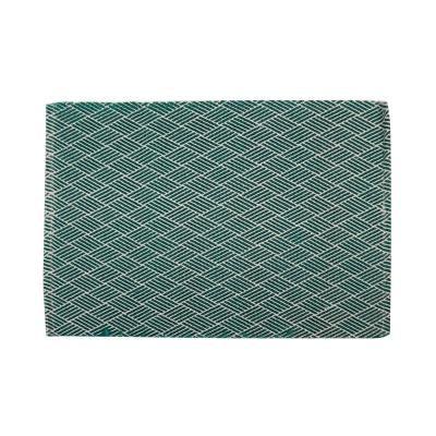 Modern csíkos szőnyeg, 90x60 cm, türkiz - FORMES