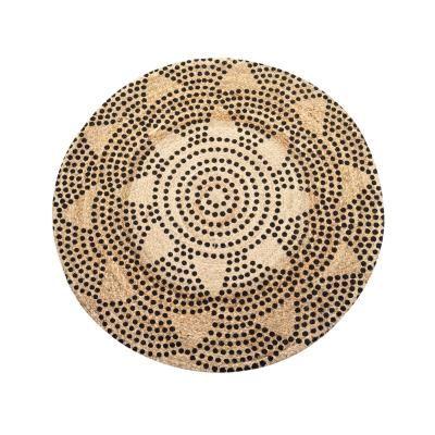Kerek szőnyeg, pöttyös mintás 120 cm - SANS FACON