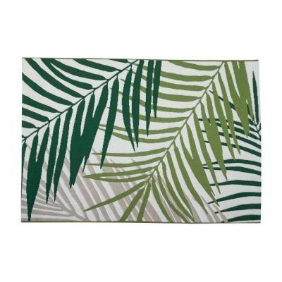 Dzsungel mintás szőnyeg, 150x100 cm, zöld - VERDOYANT