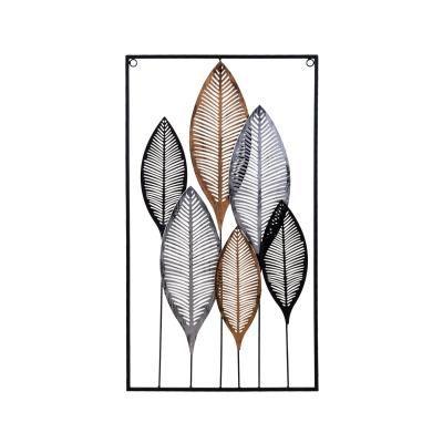 Fém fali dekoráció leveles, 37x65 cm - EPIS