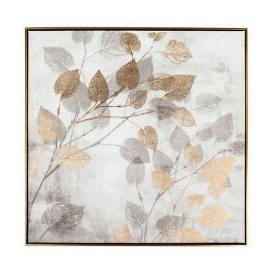Falikép keretben szürke-arany, 75x75 cm - JEU DE LUMIERE