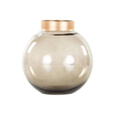 Gömb formájú váza, füstbarna - LUCIOLE