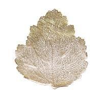 Levél alakú tányéralátét, arany - FEUILLE D'OR